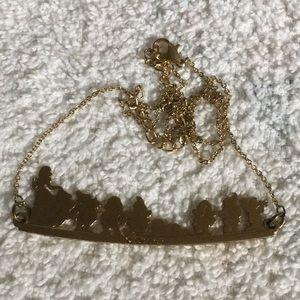 Disney gold tone Snow White necklace